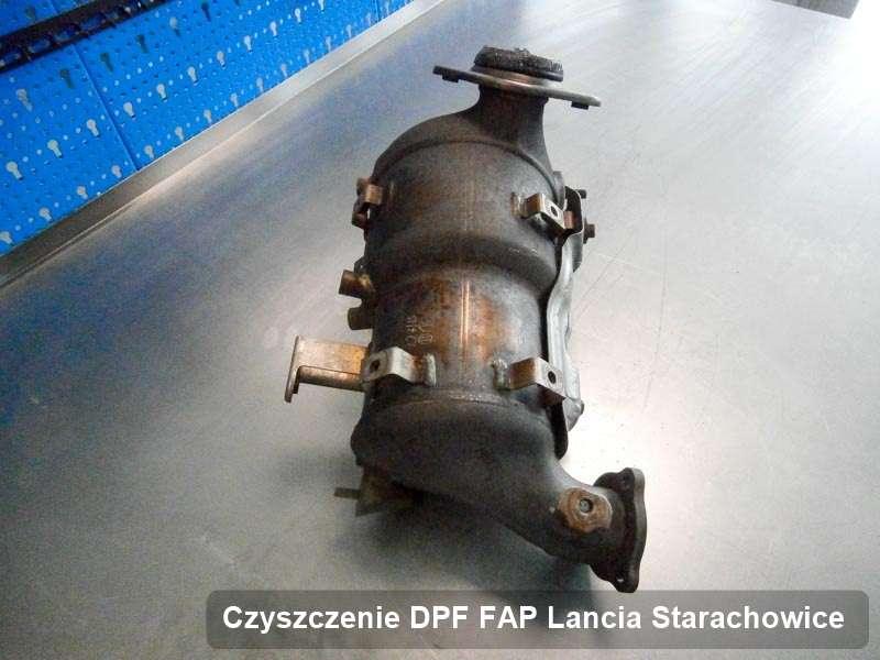 Filtr cząstek stałych DPF I FAP do samochodu marki Lancia w Starachowicach zregenerowany na specjalistycznej maszynie, gotowy do montażu