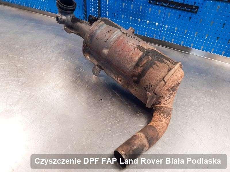 Filtr DPF i FAP do samochodu marki Land Rover w Białej Podlaskiej zregenerowany na odpowiedniej maszynie, gotowy do zamontowania
