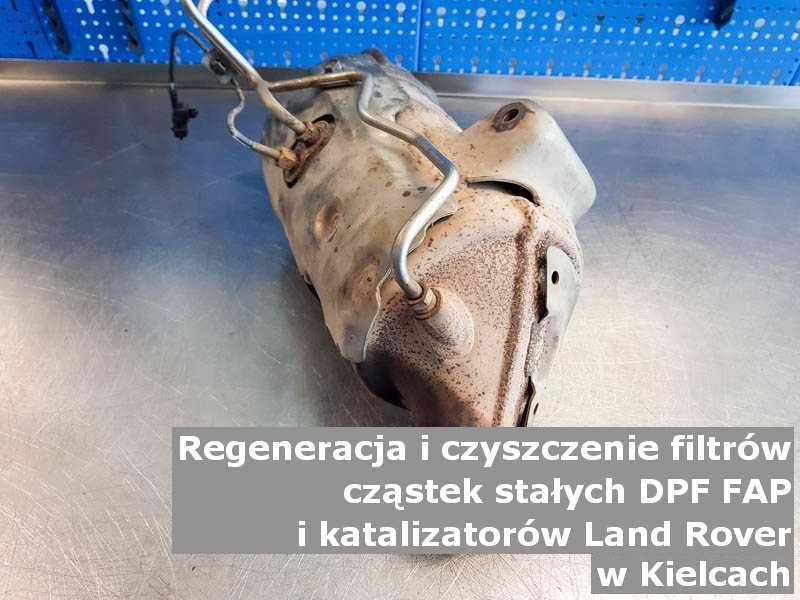 Myty filtr cząstek stałych DPF/FAP marki Land Rover, w pracowni, w Kielcach.