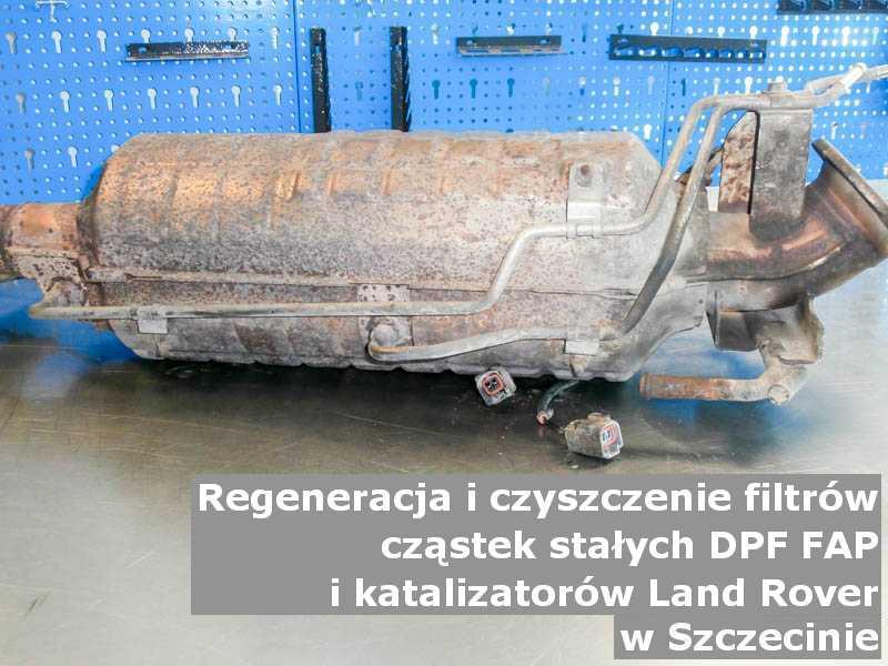 Naprawiony filtr cząstek stałych marki Land Rover, w pracowni laboratoryjnej, w Szczecinie.