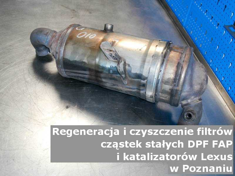 Regenerowany filtr marki Lexus, w laboratorium, w Poznaniu.