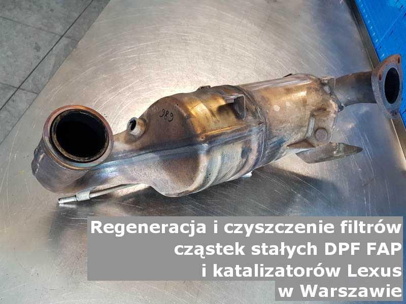 Regenerowany filtr FAP marki Lexus, w pracowni laboratoryjnej, w Warszawie.