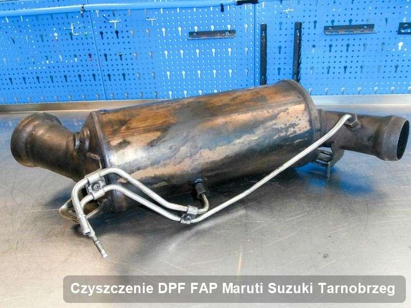 Filtr cząstek stałych FAP do samochodu marki Maruti Suzuki w Tarnobrzegu dopalony w specjalistycznym urządzeniu, gotowy do zamontowania