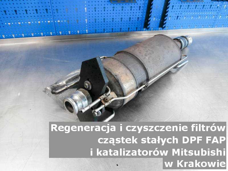 Umyty filtr marki Mitsubishi, w specjalistycznej pracowni, w Krakowie.