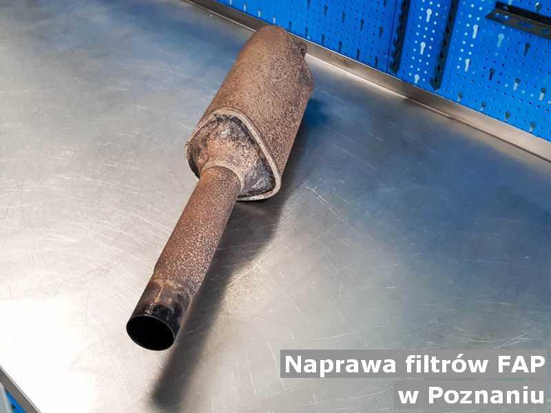 Po naprawie filtr cząstek stałych pod Poznaniem przygotowany w warsztacie.