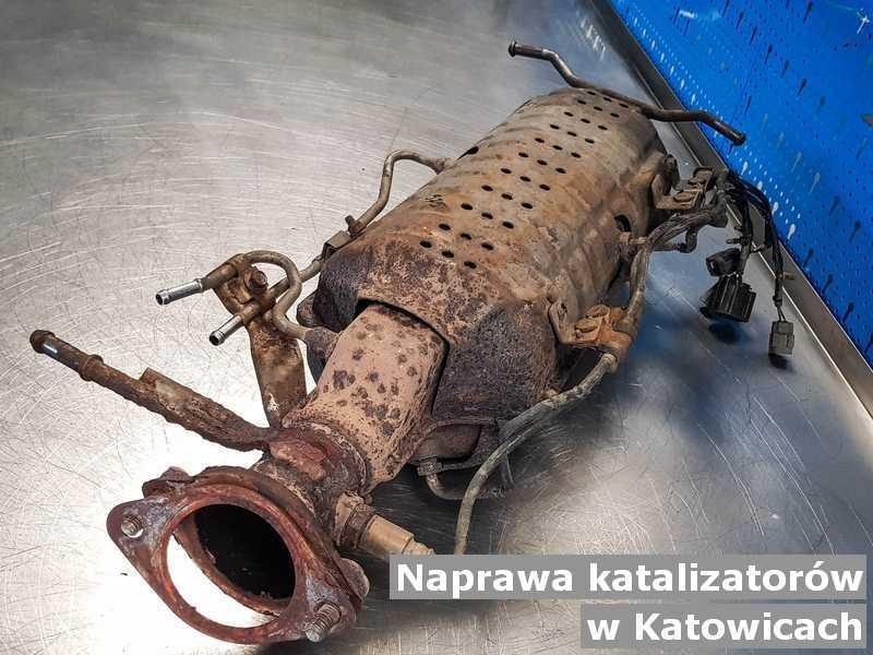 Po naprawie katalizator z Katowic oczyszczony w pracowni.