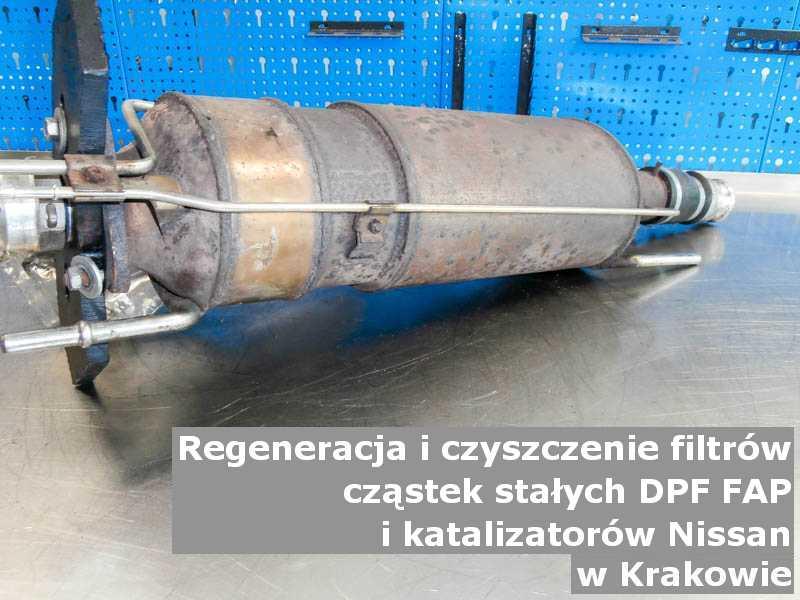 Wyczyszczony filtr cząstek stałych FAP marki Nissan, w specjalistycznej pracowni, w Krakowie.
