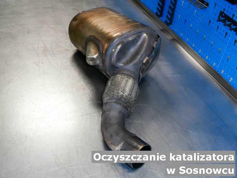 Katalizator SCR w Sosnowcu w warsztacie oczyszczony, przygotowywany do wysłania.
