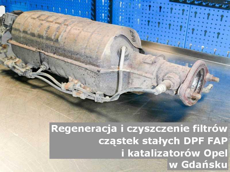 Zregenerowany katalizator marki Opel, w laboratorium, w Gdańsku.
