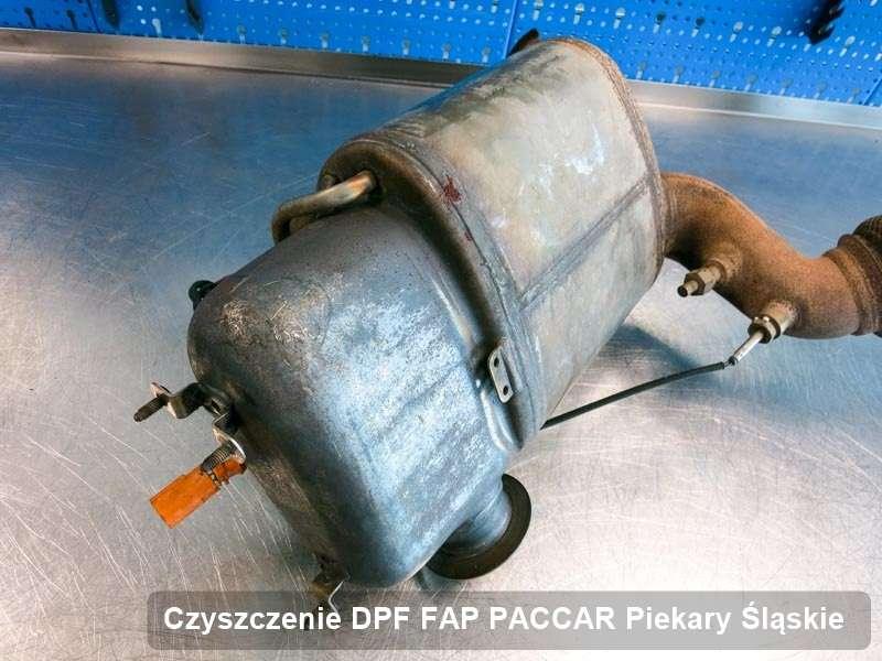 Filtr DPF i FAP do samochodu marki PACCAR w Piekarach Śląskich oczyszczony na dedykowanej maszynie, gotowy spakowania