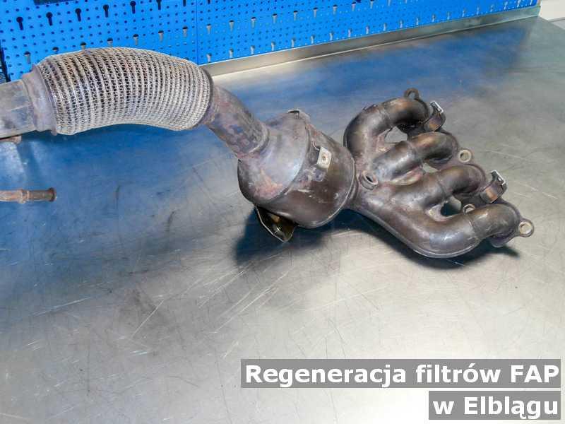 Filtr FAP w Elblągu w warsztacie samochodowym zregenerowany przed wysyłką do klienta.