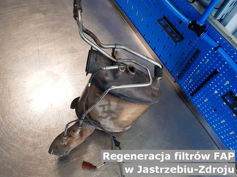 Filtr FAP pod Jastrzębiem-Zdrojem w warsztacie po zregenerowaniu przed wysyłką do klienta.