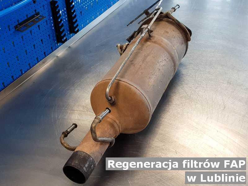 FAP z Lublina w laboratorium regenerowany przygotowywany do wysłania.