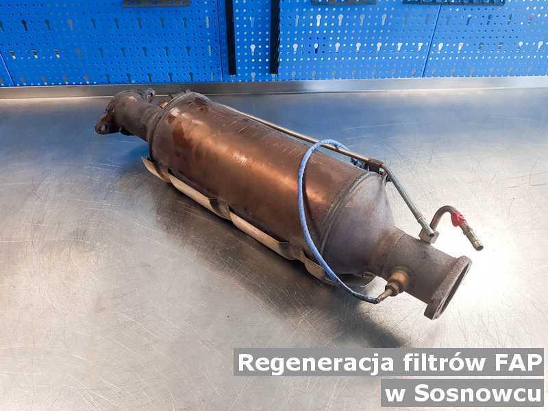 Filtr cząstek stałych FAP pod Sosnowcem w warsztatowym laboratorium po regeneracji przed wysłaniem.