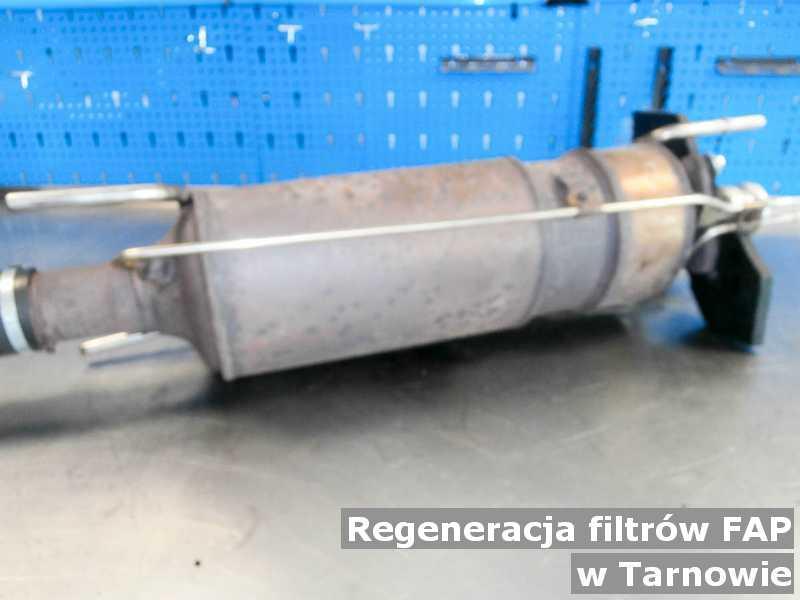Filtr cząstek stałych pod Tarnowem w warsztatowej pracowni po regeneracji przed wysłaniem do klienta.