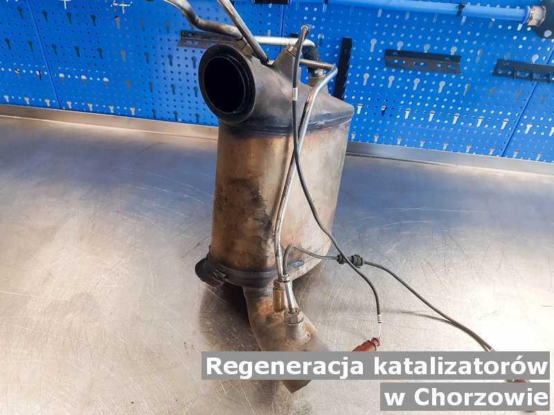 Katalizator SCR w Chorzowie w punkcie obsługi technicznej regenerowany przed wysyłką do klienta.