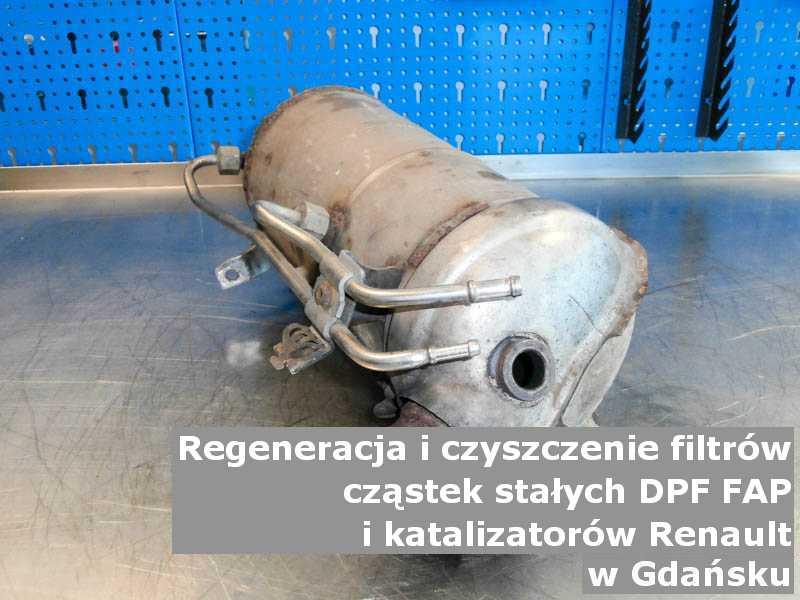 Wyczyszczony katalizator utleniający marki Renault, w pracowni laboratoryjnej, w Gdańsku.