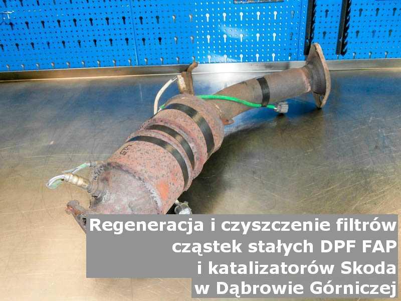 Naprawiony filtr DPF marki Skoda, w pracowni laboratoryjnej, w Dąbrowie Górniczej.