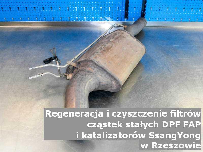 Myty katalizator utleniający marki SsangYong, w pracowni regeneracji, w Rzeszowie.