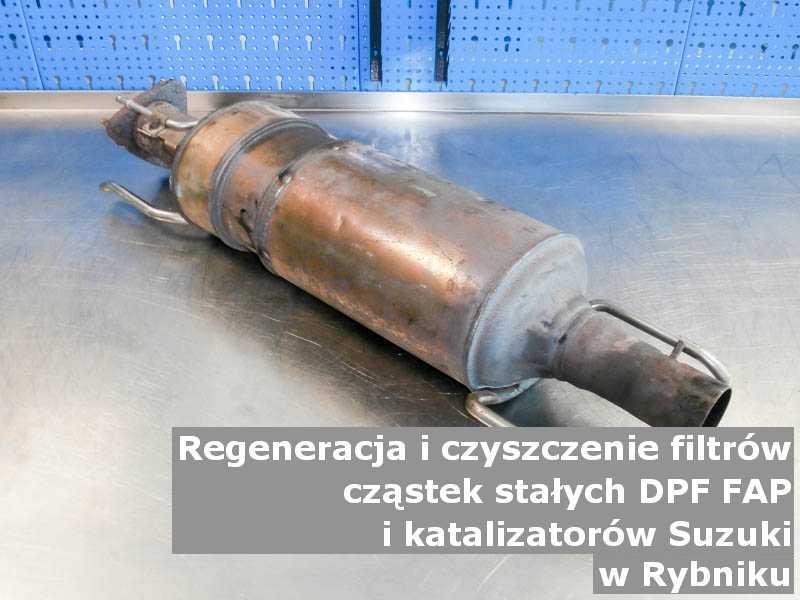 Zregenerowany filtr DPF marki Suzuki, w pracowni regeneracji, w Rybniku.
