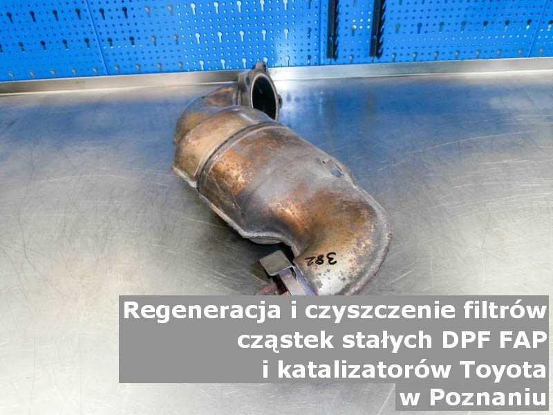 Wypłukany katalizator marki Toyota, w pracowni regeneracji, w Poznaniu.