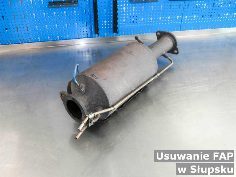 Filtr cząstek stałych w Słupsku w warsztacie zamiast usuniętego filtra cząstek stałych FAP przed wysyłką.