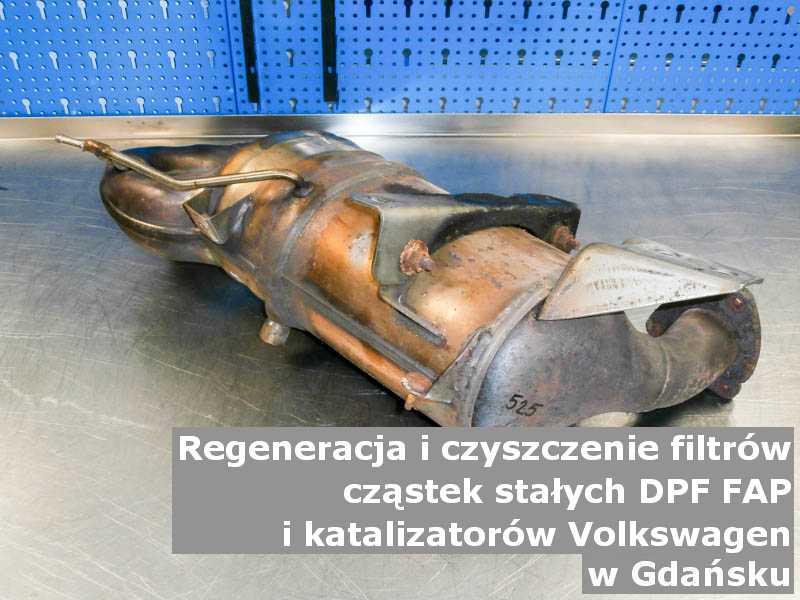 Myty katalizator SCR marki Volkswagen, w warsztatowym laboratorium, w Gdańsku.