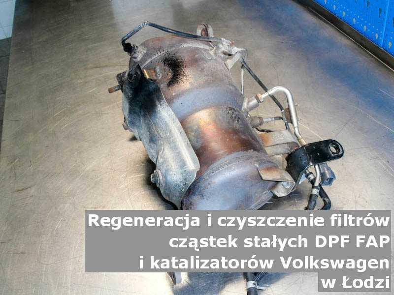 Zregenerowany filtr cząstek stałych DPF/FAP marki Volkswagen, w laboratorium, w Łodzi.